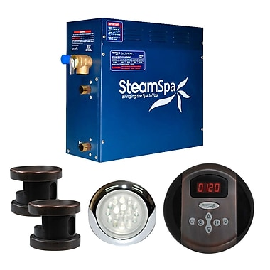 Steam Spa SteamSpa Indulgence 10.5 KW QuickStart Steam Bath Generator Package in Oil Rubbed Bronze