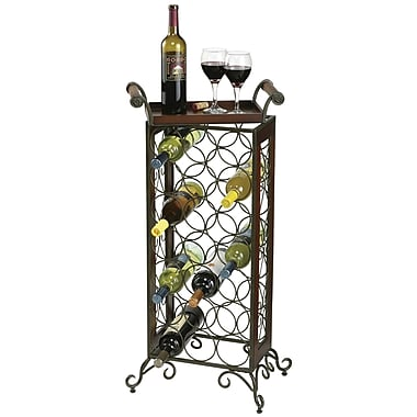 Howard Miller Butler 21 Bottle Floor Wine Rack