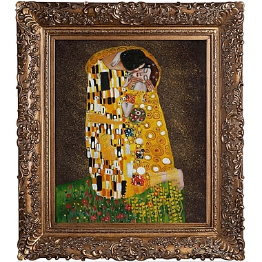 Tori Home The Kiss (Full View) by Klimt Framed Hand Painted Oil on Canvas