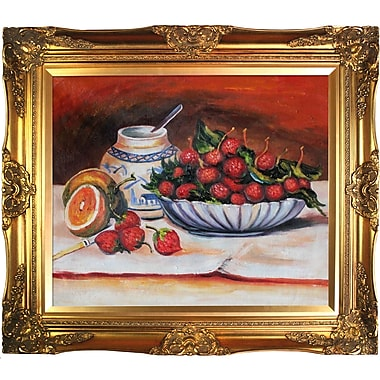 Tori Home Strawberries by Pierre-Auguste Renoir Framed Oil Painting Print