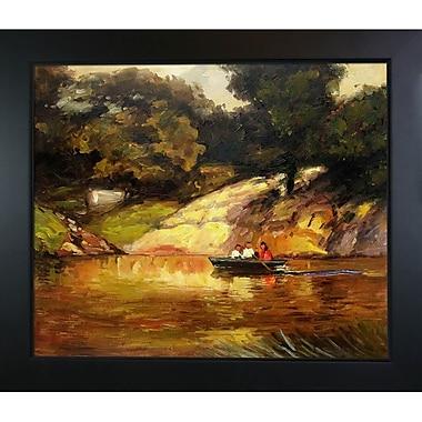 Tori Home Boating in Central Park by Edward Henry Potthast Framed Painting