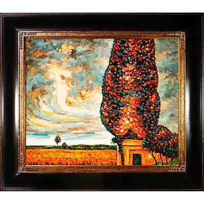 Tori Home High Poplar by Gustav Klimt Framed Painting; Medium