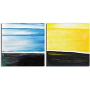 Omax Decor From Dusk til Dawn' 2 Piece Painting on Wrapped Canvas Set