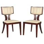Ceets Regency Upholstered Dining Chair (Set of 2); Cream