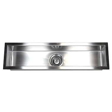 eModern Decor 32'' x 8.5'' Single Narrow Bowl Undermount Kitchen Sink
