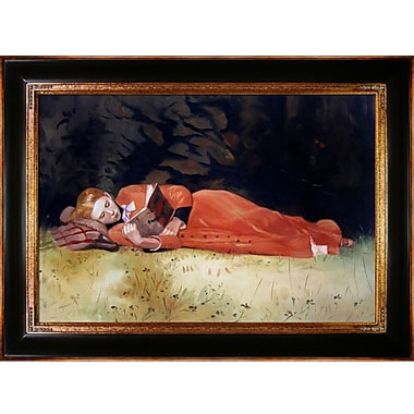 Tori Home The New Novel by Winslow Homer Framed Painting