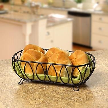Spectrum Diversified Leaf Bread Basket; Black
