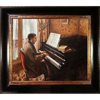 Tori Home Young Man Playing the Piano by Gustave Caillebotte Framed Painting