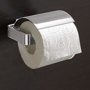Gedy by Nameeks Lounge Wall Mounted Toilet Paper Holder w/ Cover; Chrome