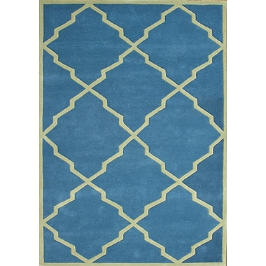 James Bond Alliyah Aqua Area Rug; 5' x 8'