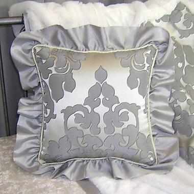 Blueberrie Kids Sterling Ruffle Cotton Throw Pillow