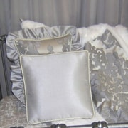 Blueberrie Kids Sterling Solid Throw Pillow