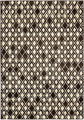 ECARPETGALLERY Atlas Marrakech Open Field Cream/Dark Brown Area Rug; 7'10'' x 10'10''