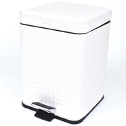 Gedy by Nameeks Marrakech 2.56 Gallon Step-On Metal Trash Can; Pearl