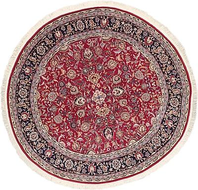 ECARPETGALLERY Dark Red Open Field Sino Persian Rug