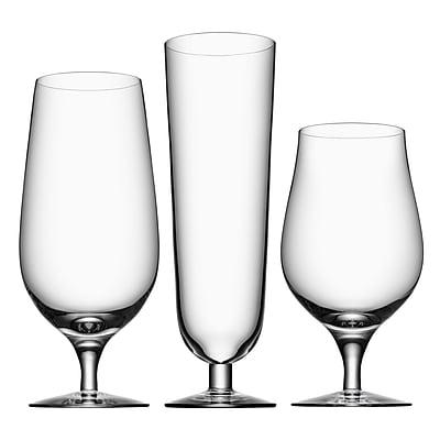 Orrefors Beer 3 Piece Crystal Assorted Glassware Set