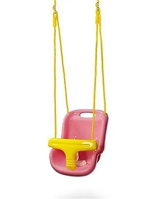Gorilla Playsets High Back Infant Swing; Pink
