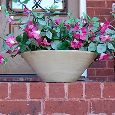 Griffith Creek Designs Fiber Clay Pot Planter; Sunwash White