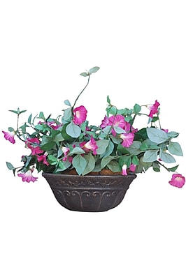 Griffith Creek Designs Fiber Clay Pot Planter; Weathered Bronze