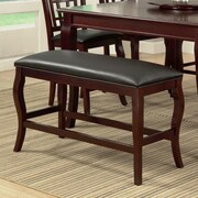Milton Green Star Burgos Upholstered Bench; Cherry