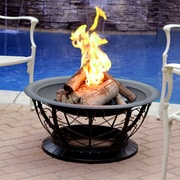 Jeco Inc. Scroll Steel Wood Burning Fire pit