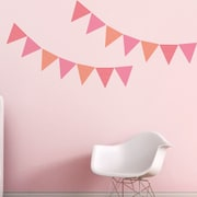 Trendy Peas Pennants Wall Decal; Pink / Strawberry / Papaya