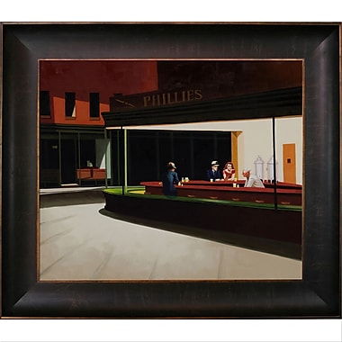 Tori Home Night Hawks by Edward Hopper Framed Painting Print