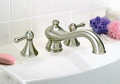 Premier Faucet Sonoma Double Handle Deck Mount Roman Tub Faucet Trim; Brushed Nickel
