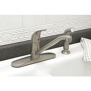 Premier Faucet Westlake Single Handle Kitchen Faucet; PVD Brushed Nickel