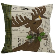 Xia Home Fashions Reindeer w/ Applique Suede Throw Pillow