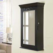 Wildon Home   Morris Wall Mounted Jewelry Armoire; Black