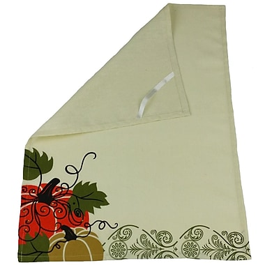 Xia Home Fashions Pumpkin Towel w/ Suede Accents Tea