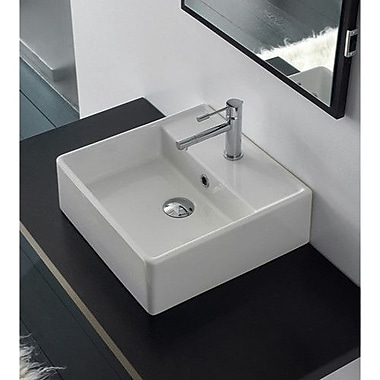 Scarabeo by Nameeks Teorema Ceramic 16'' Wall Mount Bathroom Sink w/ Overflow