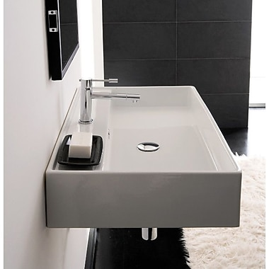 Scarabeo by Nameeks Teorema Ceramic 24'' Wall Mounted Sink w/ Overflow
