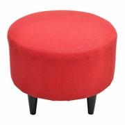 Sole Designs Sophia Round Ottoman; Candice Berry