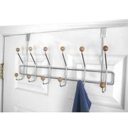 Home Basics Over The Door 6 Hook Towel Rack