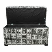 Sole Designs Angela Towers Storage Bedroom Bench; Black