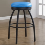 American Heritage Manhattan 26'' Swivel Bar Stool; Blue