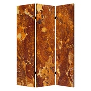 Screen Gems 72'' X 48'' Marble 3 Panel Room Divider
