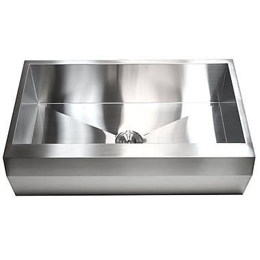 eModern Decor Ariel 36'' x 22'' Stainless Steel 16 Gauge Single Bowl Farmhouse Kitchen Sink