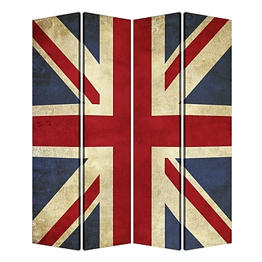 Screen Gems 72'' X 48'' Union Jack 4 Panel Room Divider