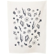 Artgoodies Organic Shell Towel; Navy Blue