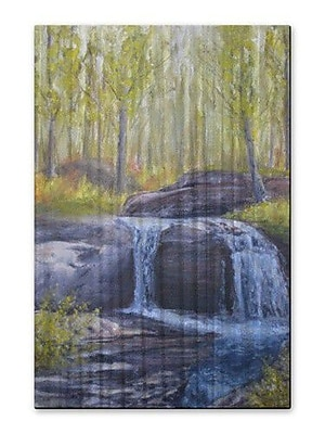 All My Walls 'Fall Cascades' by James Corwin Painting Print Plaque