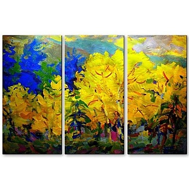 All My Walls 'Aspen' by Brian Simons 3 Piece Painting Print Plaque Set