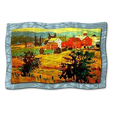 All My Walls 'Amish Farms' by Brian Simons Painting Print Plaque