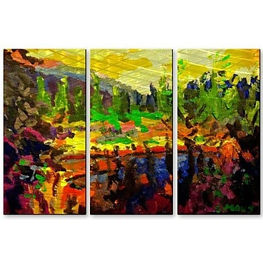 All My Walls 'Beaver Pond' by Brian Simons 3 Piece Painting Print Plaque Set