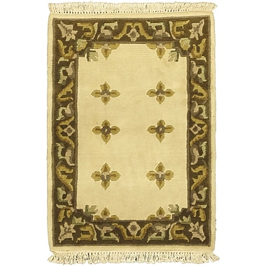 ECARPETGALLERY Karma Cream Open Field Area Rug; 2' x 3'