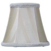 Home Concept Classics Brass 5'' Shantung Bell Candelabra Shade
