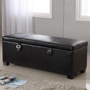 NOYA USA Castillian Upholstered Storage Bench; Dark Brown