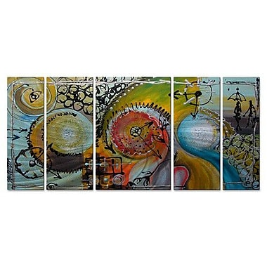 All My Walls 'Time Track' by Marina Rehrmann 5 Piece Graphic Art Plaque Set